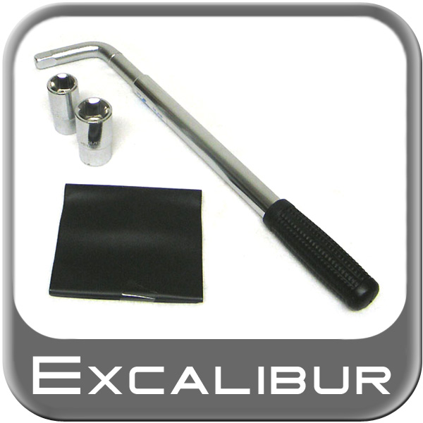 "Excalibur Lug Nut Wrench Kit Telescoping Handle to 22"" w/ Two Dual Sockets"