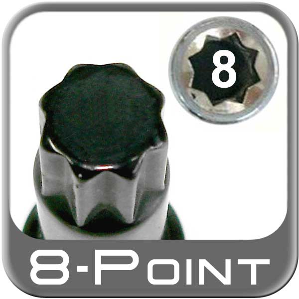 "Excalibur Large 8-Point Lug Nut Key fits 8-Spline Socket Style Tuner Lug Nuts 5/8"" Tip"