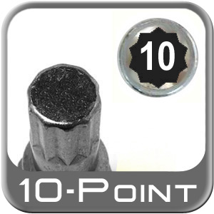 Custom Wheel Accessories ® Lug Nut Key Small 10-Point (Male) Sold Individually #6464-10