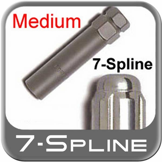 Excalibur Medium 7-Spline Lug Nut Key fits 7-Groove Tuner style Lug Nuts/Wheel Locks