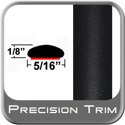 "5/16"" Wide Wheel Molding Trim Black (Flat) (Trim11) Sold by the Foot Precision Trim® #24200-11-01"