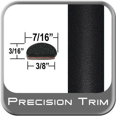 "7/16"" Wide Wheel Molding Trim Black (Flat) (Trim11) Sold by the Foot Precision Trim® #2150-11-01"