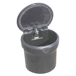 Genuine Toyota Car Ashtray / Change Cup Black Plastic Cup w/ Lid Fits Most Cup Holders #74102-02140