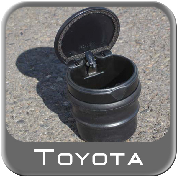 """Car Ashtray / Change Cup Black Plastic Cup w/ Lid w/ Rubber """"Gripper"""" Boot Genuine Toyota #74101-AE010"""