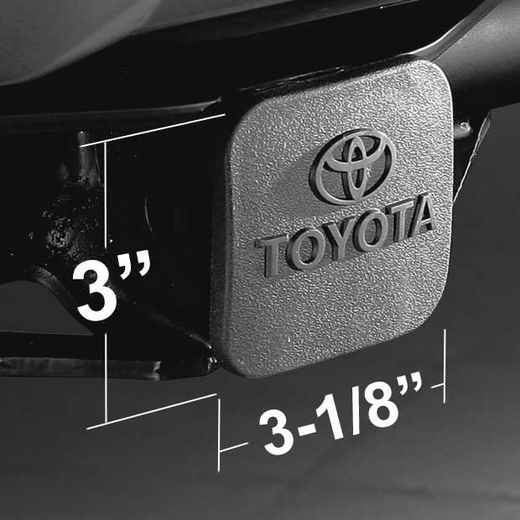 """Toyota Trailer Hitch Cover Plug Black Rubber w/Toyota Logo Fits all 2"""" Hitches Genuine Toyota #PT228-35960-HP"""