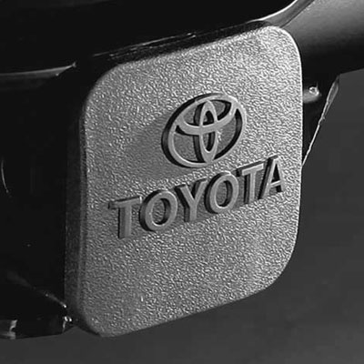 "Toyota Trailer Hitch Cover Black Rubber w/Toyota Logo Fits all 2"" Hitches Genuine Toyota #PT228-35960-HP"
