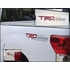 Genuine Toyota TRD Rock Warrior Decals Red w/Charcoal Letters Set of 2 #PT747-34090-RW