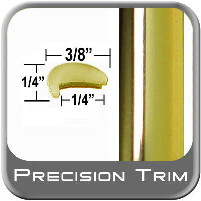 """""""L"""" Style Car Door Guards Gold Sold by the Foot Trim Gard® #NE06-01"""