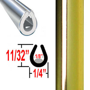 """U"" Style Door Edge Guard Gold Sold by the Foot Trim Gard® #26-01"