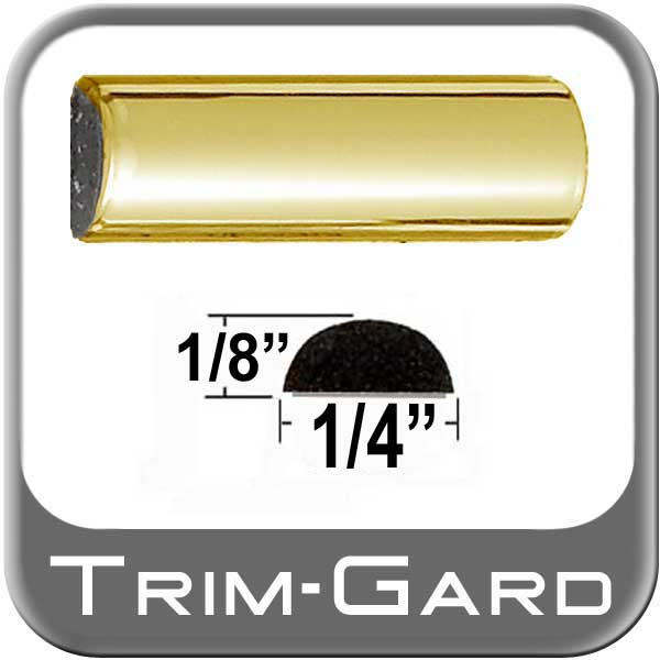 "1/4"" Wide Wheel Molding Trim Gold Sold by the Foot Trim Gard® #M306-01"