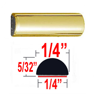 """1/4"""" Wide Wheel Molding Trim Gold Sold by the Foot Trim Gard® #M306-01"""