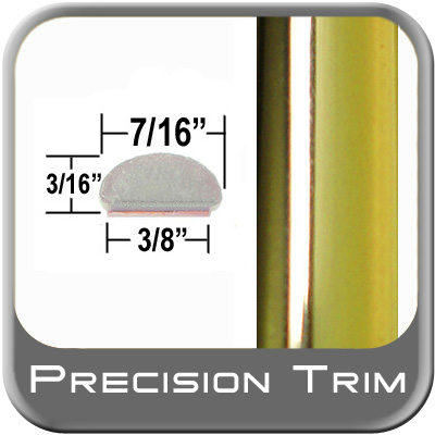 "7/16"" Wide Wheel Molding Trim Gold Sold by the Foot Precision Trim® #0306-01"