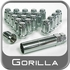 "Gorilla® 1/2"" x 20 Small Diameter Lug Nut & Lock Set Cone/Tapered (Bulge 60°) Seat Right Hand Thread Chrome 4 Locks, 16 Nuts #21783SD"