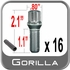 Gorilla® 12mm x 1.5 Lug Bolts Cone/Tapered (60�) Seat Right Hand Thread Chrome 16 Bolts w/Key #17179SD-16