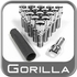 Gorilla® 12mm x 1.5 Stud Bolts Cone/Tapered (60�) Seat Right Hand Thread Chrome 16 Bolts w/Key #17100SD-16
