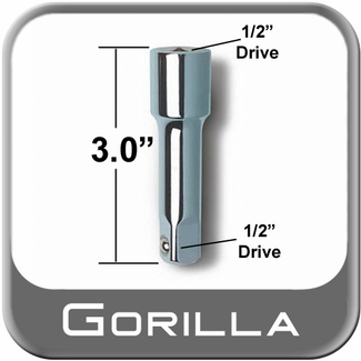 """Gorilla ® Power Wrench Extension 3"""" Long x 1/2"""" Drive from Brandsport Auto Parts (#GRLA-3EXT)"""