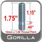 12mm x 1.50 Wheel Stud
