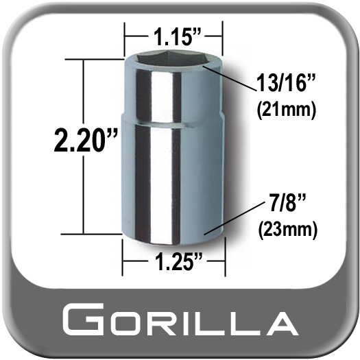 "Gorilla ® Thin Wall Flip Socket 21mm (13/16"") & 23mm (7/8"") Dual Flip Socket Sold Individually #1378SKT"