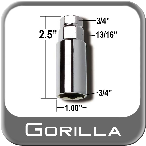 """Gorilla ® Thin Wall Lug Adapter 3/4"""" & 13/16"""" Male x 3/4"""" Female Sold Individually #3434DS"""
