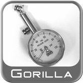 Gorilla Tire Pressure Gauge Premium Dial Style Chrome w/Black Housing