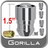 "Gorilla Wheel Locks - Set of 5 Acorn/Tapered Seat, Chrome 13/16"" Hex Key Included 1/2"" x 20 Thread"