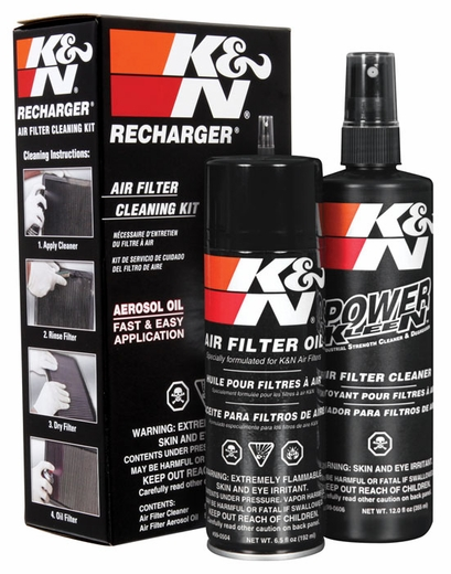 K&N Air Filter Cleaner Kit Air Filter Element Cleaning Service Kit Cleaner w/Spray Oil Plus 12 oz. Filter Cleaner Solution (spray pump) 6.5 oz. #99-5000