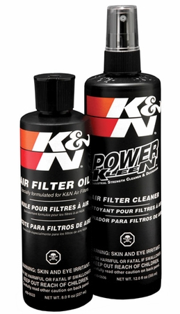 K&N Air Filter Cleaner Kit Air Filter Element Cleaning Service Kit Cleaner w/Squeeze Oil Bottle Plus 12 oz. Filter Cleaner Solution (spray pump) 8 oz. #99-5050