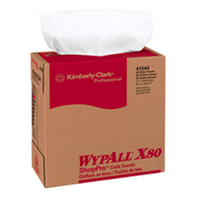 Kimberly Clark Wypall X80 ShopPro Towel Pop-up Box White 80 Sheets #41048