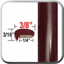 Dark Red Car Door Moldings
