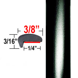 """L"" Style Door Edge Guards Super Black (CP20) Sold by the Foot ColorTrim Plastics® #10-20"