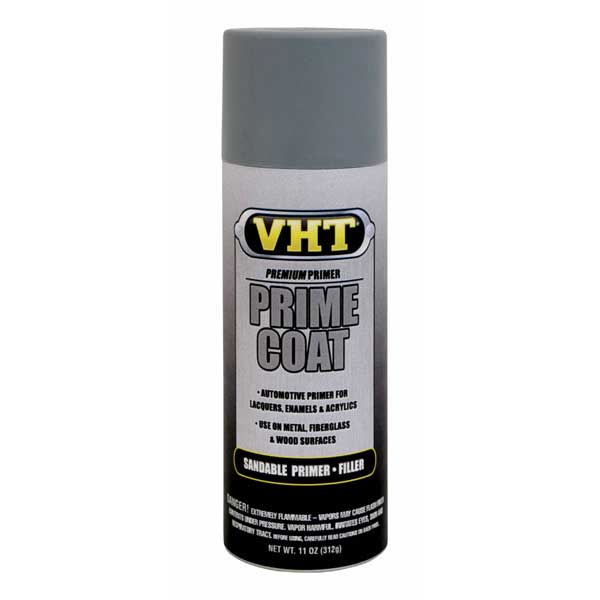Light Gray Prime Coat® Sandable Primer Filler 11 ounce Spray On VHT #SP304