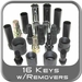 Lug Nut Master Key Set w/Removers 20 Piece Kit Available w/Case & Power Wrench
