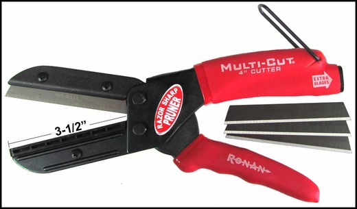 """Ronan Molding Cutters 3-1/2"""" Blade Refillable, w/ 3 Extra Blades Sold Individually #401"""