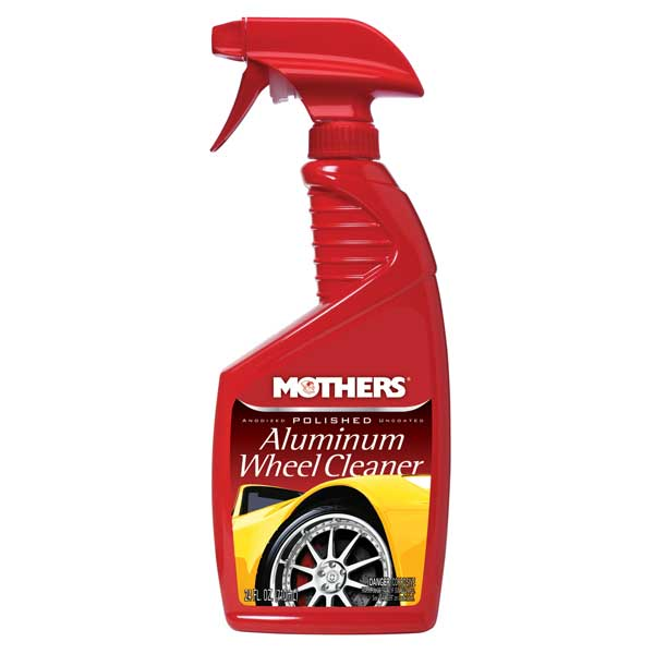 Mothers Polished Aluminum Wheel Cleaner Liquid Cleaner 24 oz. Trigger Spray Bottle #06024