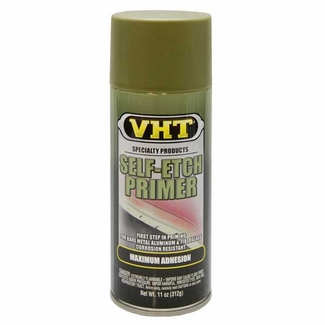 Olive Green Self-Etching Aluminum Spray Primer 11 ounce Spray On VHT #SP307