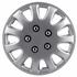 "Pilot Automotive 14"" Silver Hub Caps 5-Lug Style, 11-Spoke"