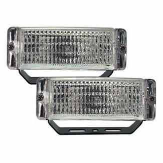 Pilot Automotive Back-Up Light White Beam w/Clear Lens Rectangular Design Black