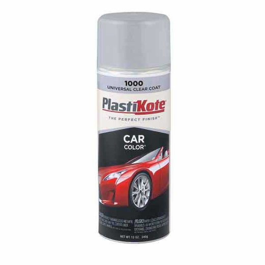 Car Color 174 Clear Coat Spray Paint 11 Ounce Plastikote 1000