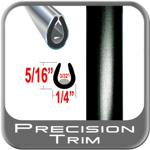 "Precision Trim® Black Car Door Guards ""U"" Style #1150-60-01"