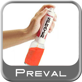 Spray Gun Aerosol Paint or Chemical Sprayer Disposable 1.94oz. Propellant w/Reuseable 6 Ounce Jar Preval #267