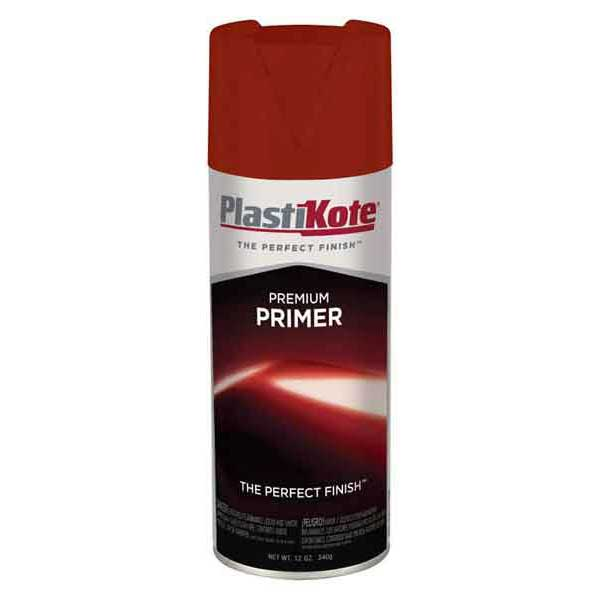 Red Oxide Premium Paint Primer 12 ounce Spray On PlastiKote #T19