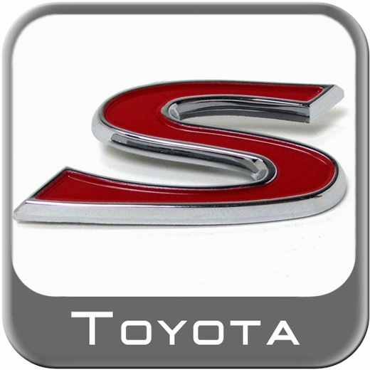 Brand New Genuine Toyota S Sport Edition Emblem From