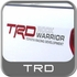 TRD Rock Warrior Decals Red w/Charcoal Letters