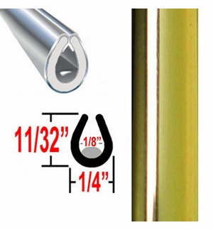 """""""U"""" Style Door Edge Guard Gold Sold by the Foot Trim Gard® #26-01"""