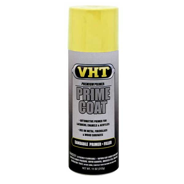 Yellow Zinc Chromate (For Aluminum) Prime Coat® Sandable Aluminum Primer Filler 11 ounce Spray On VHT #SP306
