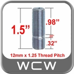 12mm x 1.25 Wheel Stud