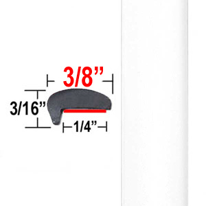 """""""L"""" Style Car Door Guards White (PT12) Sold by the Foot Precision Trim® #1180-12-01"""