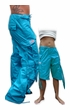 Girls Hipster UFO Pants with Zip Off Legs (Turquoise)