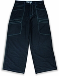 Kikwear 28 Microfiber Contrast Pants (Black / Green / Blue)