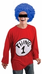 Thing 1 Thing 2 Blue Costume Wig